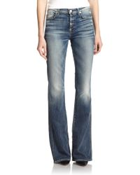 7 For All Mankind High-Rise Flared Jeans - Lyst