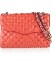 Rebecca Minkoff Quilted Affair Studded Leather Shoulder Bag - Lyst