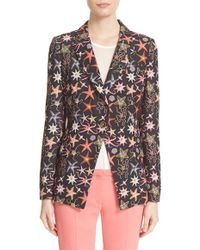 Versace | One-button Starfish Print Blazer | Lyst