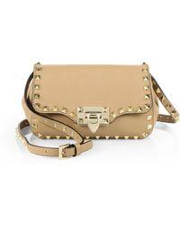Valentino Rockstud Mini Flap Crossbody Bag - Lyst