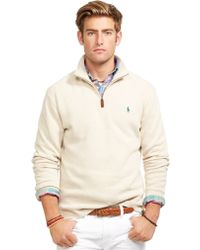Polo Ralph Lauren French-rib Mockneck Pullover - Lyst