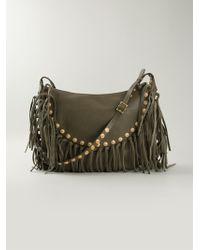 Valentino 'Fringe Hobo' Shoulder Bag - Lyst