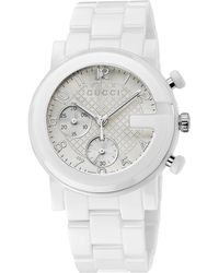 Gucci G-Chrono Collection Ceramic & Stainless Steel Watch - Lyst