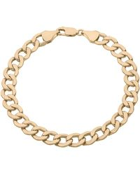 Lord & Taylor - 14k Yellow Gold Curb Link Bracelet - Lyst