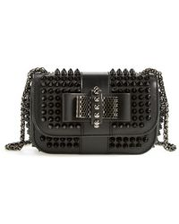 Christian Louboutin Sweet Charity Spiked Calfskin Shoulder Bag - Lyst