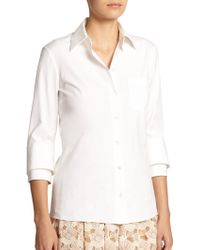 Michael Kors Cotton Button-Down Shirt - Lyst
