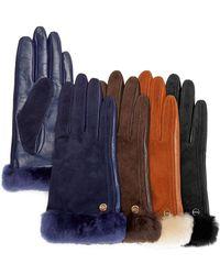 Ugg Australia Ugg® Australia Classic Suede & Leather Tech Gloves - Lyst
