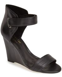 Nicole Miller 'Palm Beach' Wedge Sandal black - Lyst