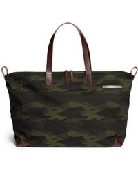 Seventy Eight Percent Eli Camouflage Oversize Canvas Tote - Lyst