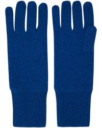 CASH CA - Blue Milled Cashmere Gloves - Lyst
