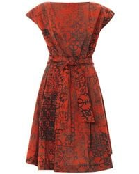 Vivienne Westwood Anglomania Moa Stave Lace-Print Dress - Lyst