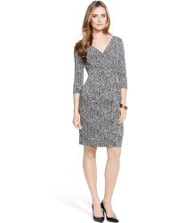 Lauren by Ralph Lauren Printed Surplice Dress - Lyst