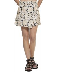 Suno Wrap Mini Skirt - Lyst
