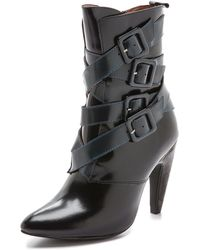 Jeffrey Campbell Destroyer Booties - Blacknavy Combo - Lyst