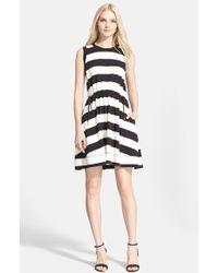 Kate Spade Stripe Fit & Flare Dress - Lyst