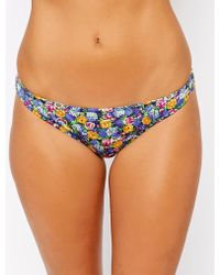 Asos Fuller Bust Exclusive Cornflower Floral Brazilian Bikini Bottom - Lyst