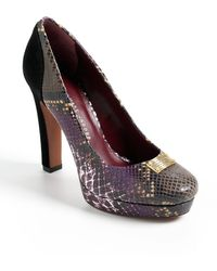 Marc By Marc Jacobs Snakeembossed Platform Pumps - Lyst