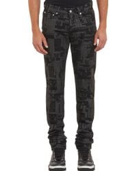 Givenchy Computerprint Jeans - Lyst