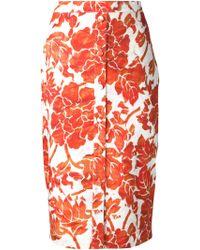 Altuzarra Floral Print Pencil Skirt - Lyst