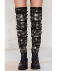 Nasty Gal Valdez Studded Leather Boot - Lyst