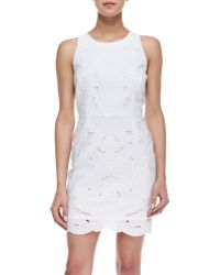 Milly Claudia Embroidered Sleeveless Dress - Lyst