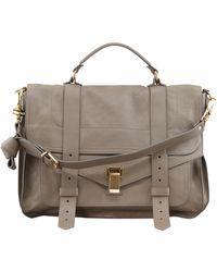 Proenza Schouler Ps1 Large Leather Satchel Bag - Lyst