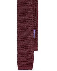 Ralph Lauren Purple Label Knit Silk Tie - Lyst