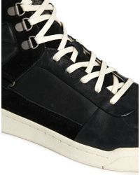 Diesel Onice Leather Trainers - Lyst