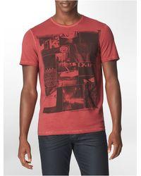 Calvin Klein Slim Fit Photo Block Cotton Graphic T-Shirt - Lyst