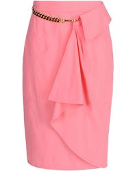 Moschino Knee Length Skirt - Lyst