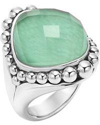 Lagos 'Maya' Stone Ring - Lapis green - Lyst