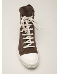 DRKSHDW by Rick Owens Ramones High Top Trainers - Lyst