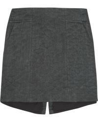 Theyskens' Theory Swick Quilted Cotton And Silk-Blend Mini Skirt - Lyst