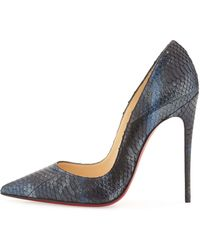 Christian Louboutin Metallic Watersnake Red Sole Pump - Lyst