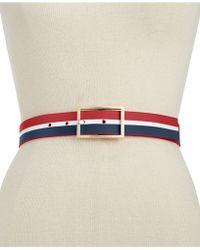 Vince Camuto - Screen Print Stripe Belt - Lyst