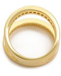 Fallon - Pave Split Ring Gold - Lyst
