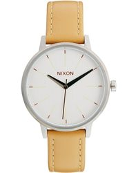 Nixon Kensington Leather Brown Watch - Lyst
