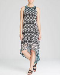 Karen Kane Printed Dip Dye Dress - Lyst
