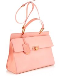 Balenciaga Le Dix Classic Cartable Leather Bag pink - Lyst