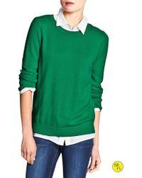 Banana Republic Factory Popcorn Sweater  Varsity Green - Lyst