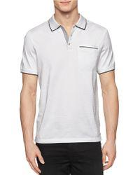 Calvin Klein Tonal Stripe Contrast-Tipped Polo white - Lyst