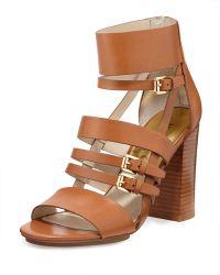MICHAEL Michael Kors Winston Strappy Leather Sandal - Lyst