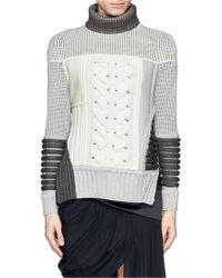 Prabal Gurung Contrast Knit Turtleneck Sweater - Lyst