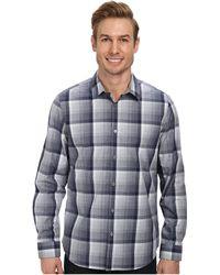 Calvin Klein Large Tonal End On End Plaid Long Sleeve Woven Shirt - Lyst
