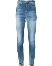 Dondup Skinny High-Waisted Stretch-Denim Jeans - Lyst