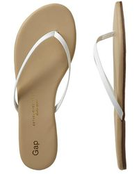 Gap Leather Flip Flops - Lyst