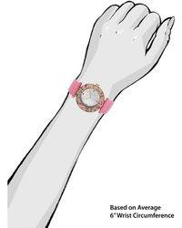 Kenneth Jay Lane - Women's Aurora Pink Genuine Leather Mother Of Pearl Dial - Lyst