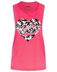 Juicy Couture Graphic Print Muscle Tee pink - Lyst