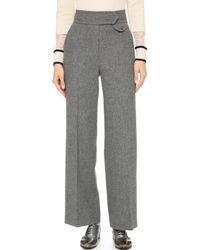 Leur Logette - Wide Trousers With Centre Pleats - Grey - Lyst