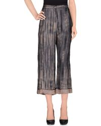 Erika Cavallini Semi Couture Casual Pants gray - Lyst
